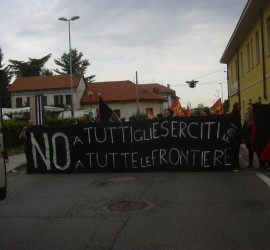 Antimilitaristische Aktion in Casella, Italien